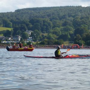 safety boat services for the Loch ness swim